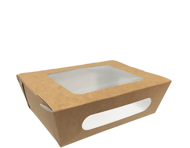 Snack Box Tuck-Top Window Salad Pack, Medium