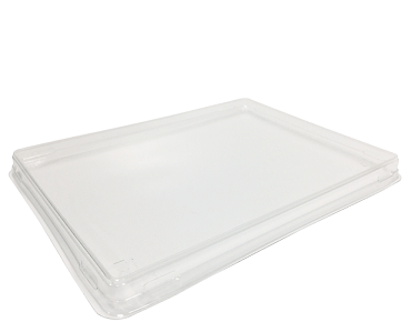 Fuzione Paper Food Tray rPET Lid, Large