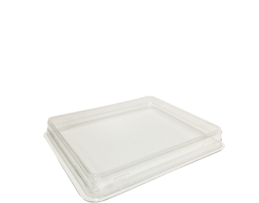 Fuzione Paper Food Tray rPET Lid, Small