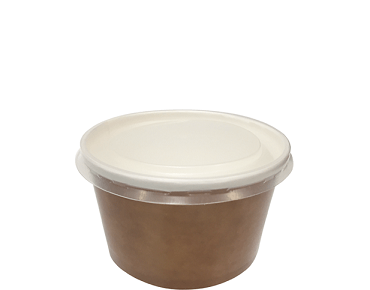 Multi-Food Pot & PP Lid Combo-Pak (470 ml Paper Bowl)