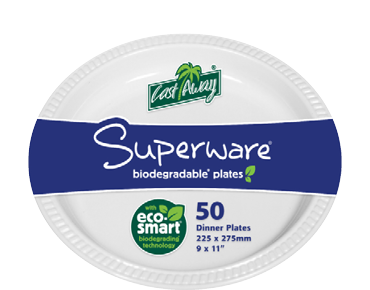 Superware® White Plastic Plates (Large Oval)