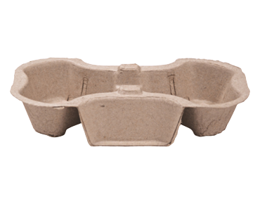Enviroboard® 2 Cup Coffee Carry Tray