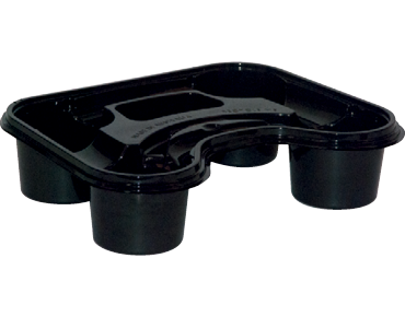 Stadium 4-Cup Plastic Carry Tray