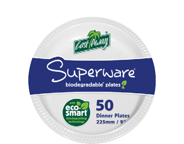 Superware® White Plastic Plates (Round 9 inches)