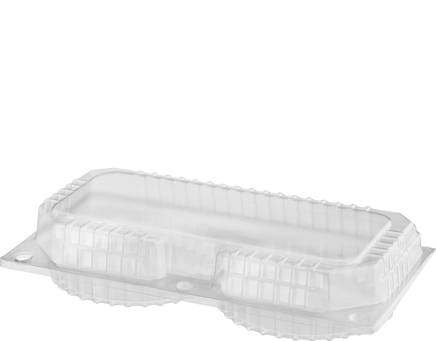 Ideal for packaging custards, these plastic storage containers have ribbed construction for added strength. Clear base & lid for enhanced presentation.