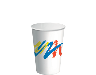 12oz Paper Cold Cups with Carnivale design