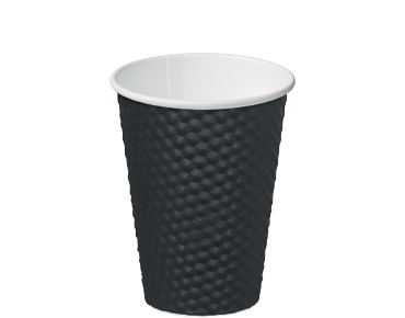Dimple® Paper Takeaway Coffee Cups (Black 12oz)