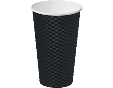 Dimple® Paper Takeaway Coffee Cups (Black 16oz)