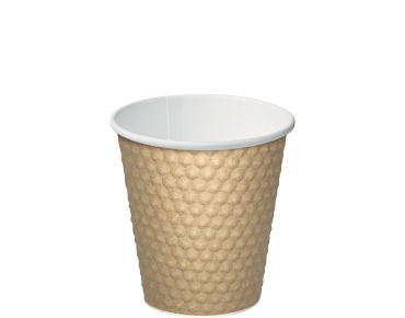 Dimple® Paper Takeaway Coffee Cups (Brown 8oz)