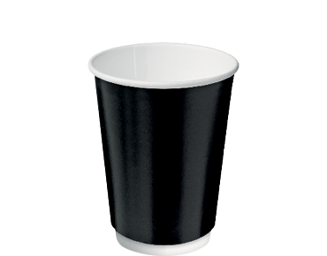 Double Wall Insulcups® Takeaway Paper Coffee Cups (Black 12oz)