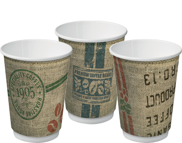 Double Wall Insulcups® | Takeaway Paper Coffee Cups (Jute 12oz)