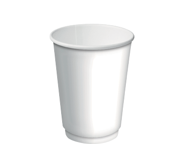 Double Wall Insulcups® Takeaway Paper Coffee Cups (White 12oz)