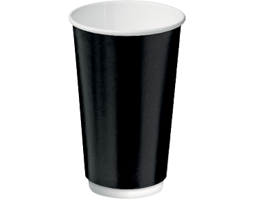 Double Wall Insulcups® Takeaway Paper Coffee Cups (Black 16oz)