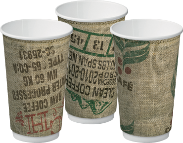 Double Wall Insulcups® | Takeaway Paper Coffee Cups (Jute 16oz)