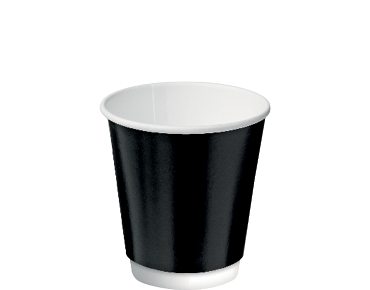 Double Wall Insulcups® Takeaway Paper Coffee Cups (Black 8oz)