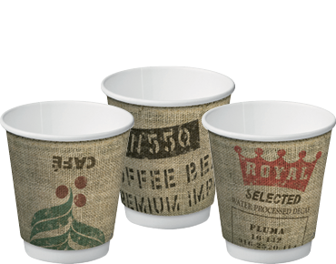 Double Wall Insulcups® Takeaway Paper Coffee Cups (Jute 8oz)