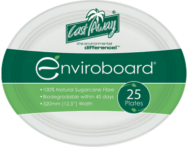 Large Oval Biodegradable Plates