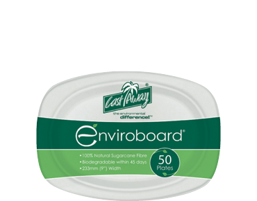 Small Oval Biodegradable Plates