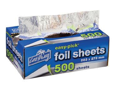 Medium Easy-Pick Heavy Duty Cut Aluminium Foil Sheets