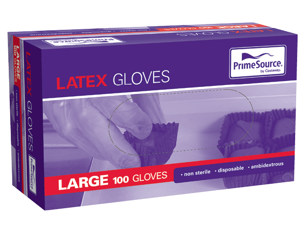 Disposable Latex Gloves (White Large)
