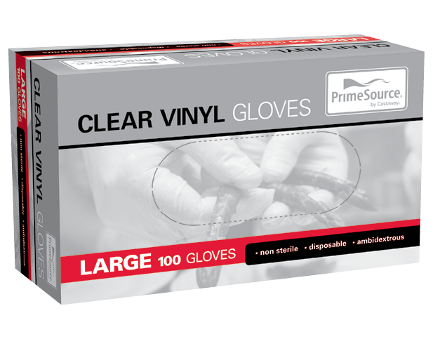 Vinyl Powdered Disposable Gloves (Clear Large)
