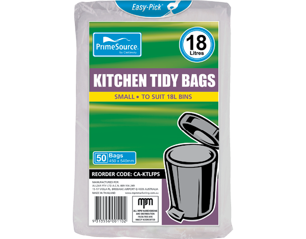 Kitchen Tidy Bags, Bin Liners (Small White)