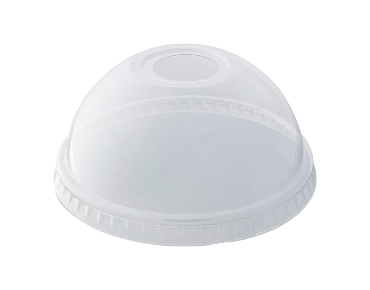 HiKleer® Clear Plastic Cup Lids, Dome with Straw Hole (12oz & 15oz)