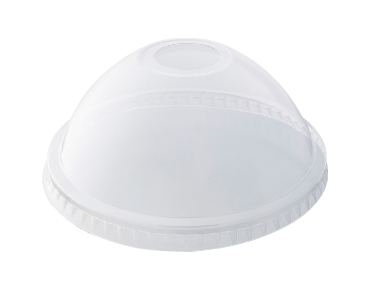 HiKleer® Clear Plastic Cup Lids, Dome with Straw Hole (14oz to 24oz)