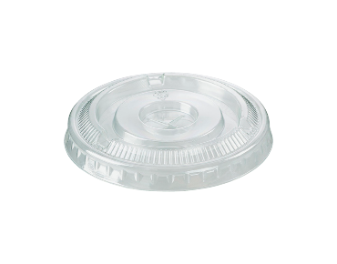 HiKleer® Clear Plastic Cup Lids, Flat with Straw Slot (7 oz, 9 oz & 285 ml)