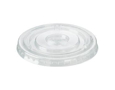 HiKleer® Clear Plastic Cup Lids, Flat with Straw Slot (12oz & 15oz)