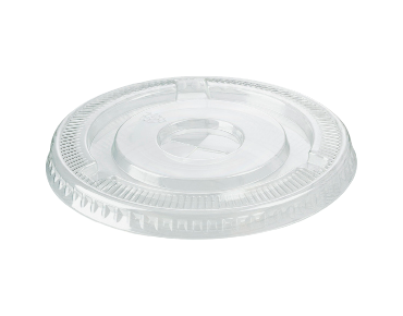 HiKleer® Clear Plastic Cup Lids, Flat with Straw Slot (14oz to 24oz)