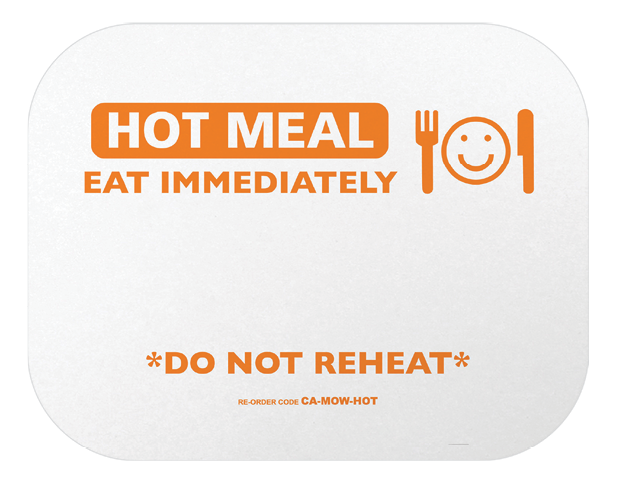 Rectangle Takeaway Foil Container Lids (Printed Hot Meal)