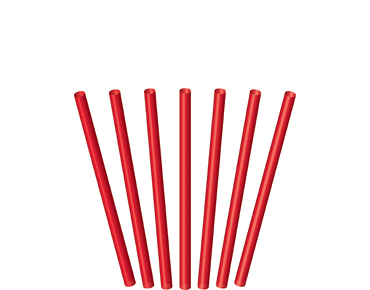 Cocktail Straws, Red