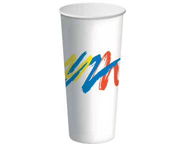 22oz Paper Cold Cups with Carnivale design