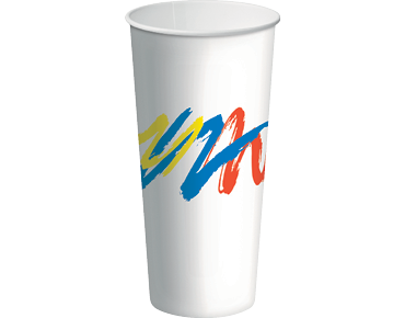 24oz Paper Cold Cups with Carnivale design