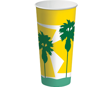 24oz Paper Cold Cups with Daintree® design