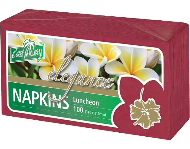 Elegance® Luncheon Paper Napkins (Quarter Fold Red)