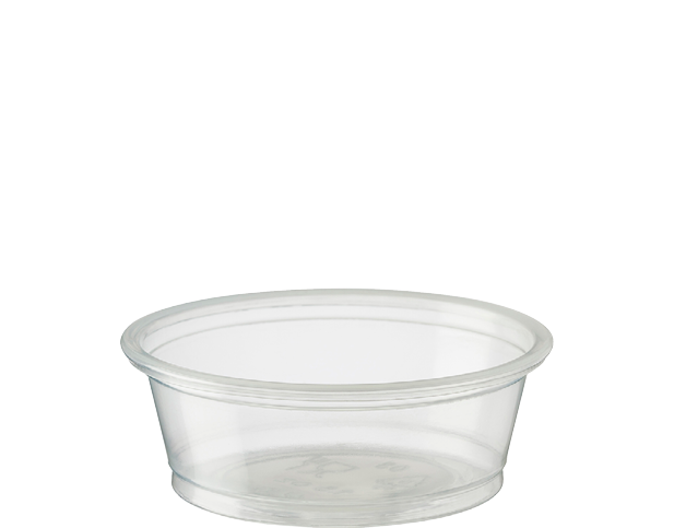 Portion Control Clear Plastic Cups (Small 15ml)