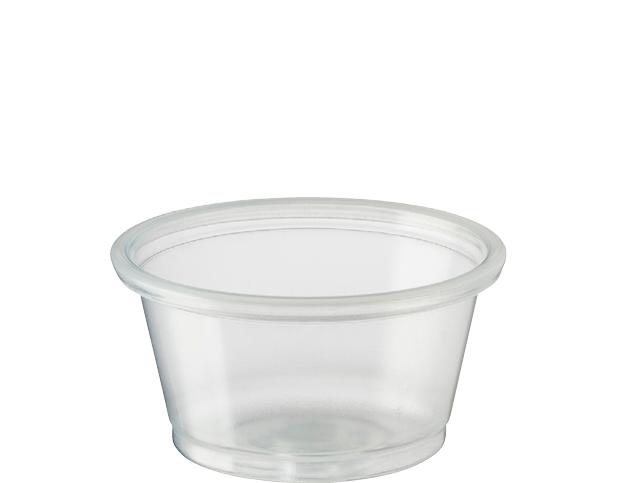Portion Control Clear Plastic Cups (Small 22ml)
