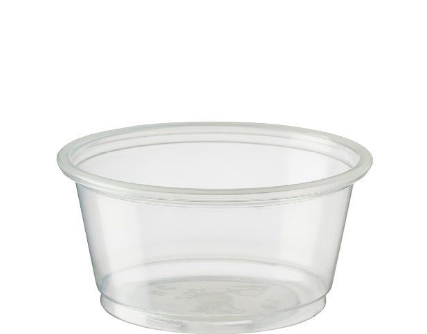 Portion Control Clear Plastic Cups (Medium 60ml)