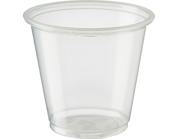 Portion Control Clear Plastic Cups (Large Tall 105ml)