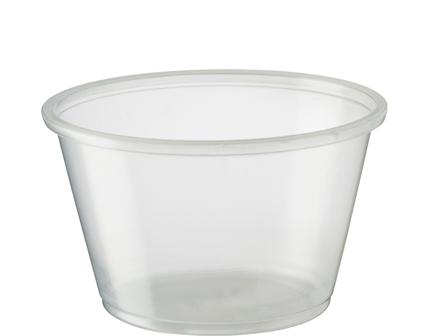 Portion Control Clear Plastic Cups (Large 120ml)