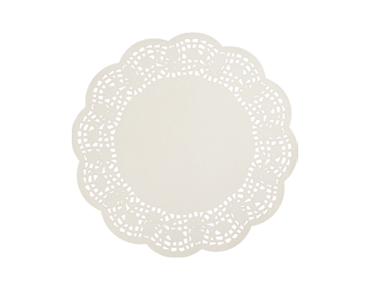 Round Lace Doyleys Tabletop Placemats (9.5 inches)