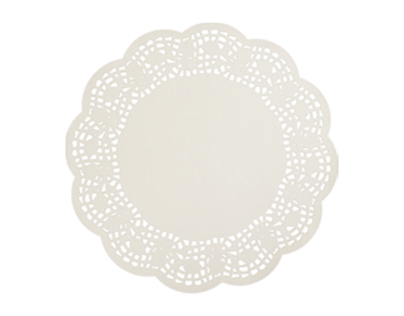 Round Lace Doyleys Tabletop Placemats (10.5 inches)