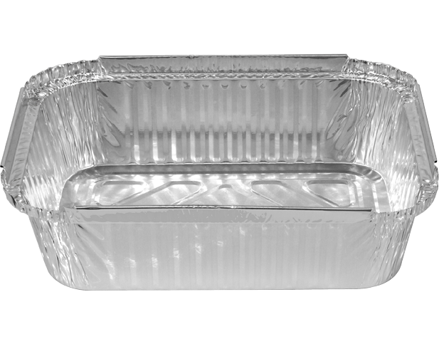 Rectangle Foil Containers Aluminum Takeaway Food Storage