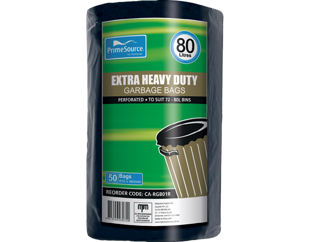 Easy-Pick® Extra Heavy Duty Garbage Bags (80L Perforated Roll)