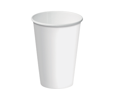 Single Wall Paper Coffee Cups w/ Classic Lid System (White 12oz)