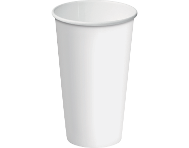 Single Wall Paper Coffee Cups w/ Classic Lid System (White 16oz)