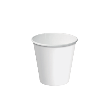 Single Wall Paper Hot Cups w/ Classic Lid System (White 6oz)
