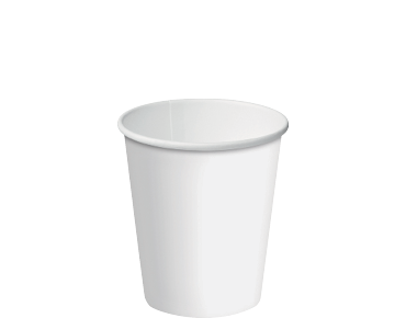 Single Wall Paper Coffee Cups w/ Classic Lid System (White 8oz)